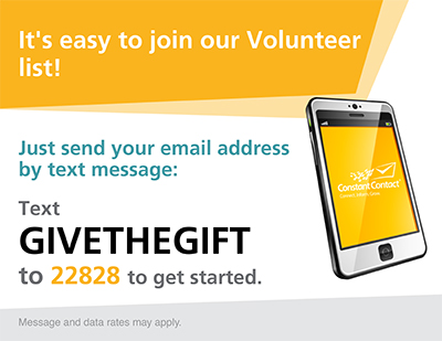 Gos volunteer text to join