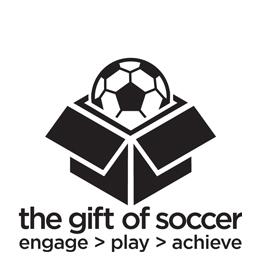 Gift of soccer logo bw