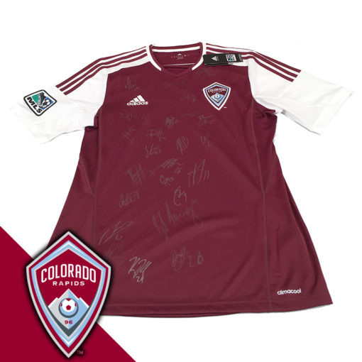 Gos co rapids 2014 signed jersery logo