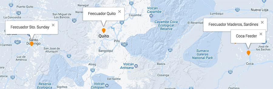 Ecuador foundation helping locations