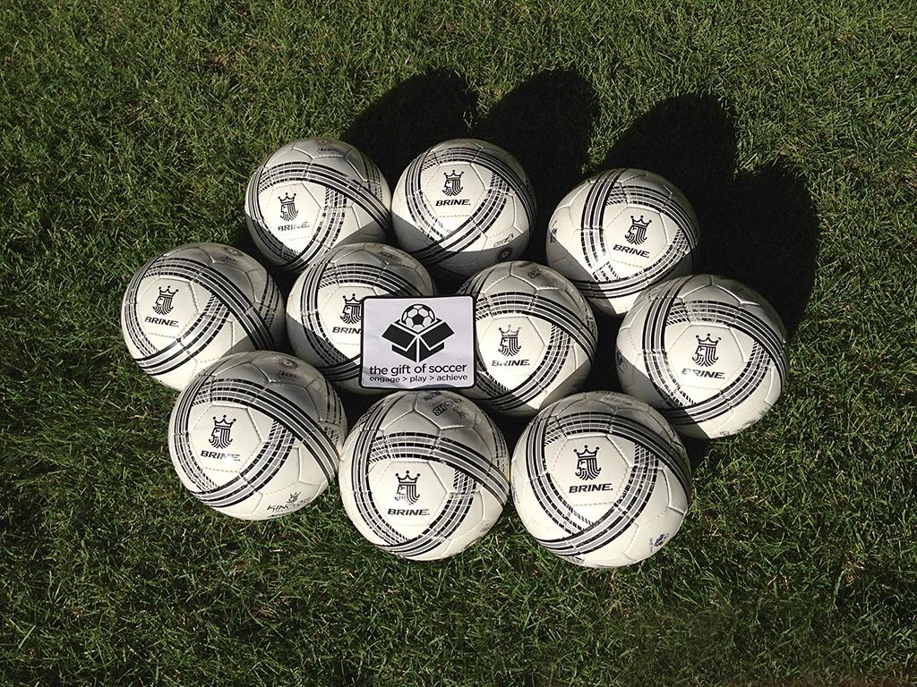 Donated Soccer Balls