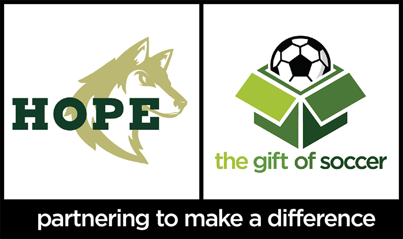 The gift of soccer logo dual brand hope christian 022317a