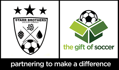 Gift of soccer 2 logo partnering starr brothers