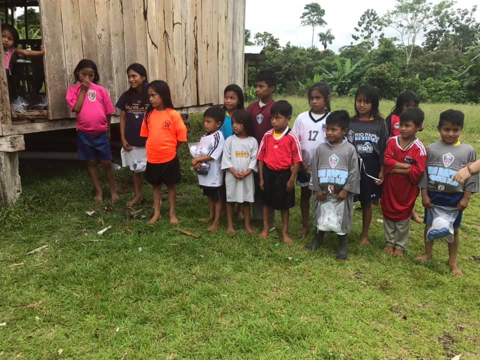 Delivered to kids in ecuador, south america